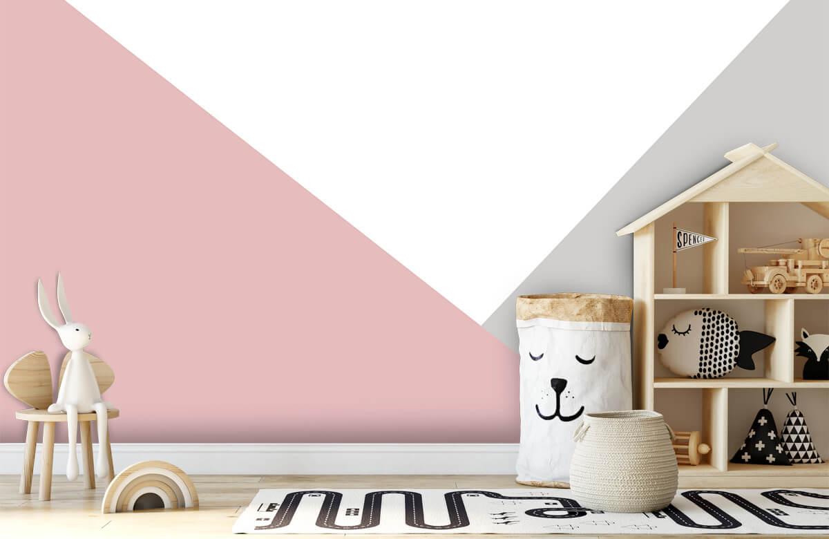 Hip & Trendy Roze en grijze driehoeken 5