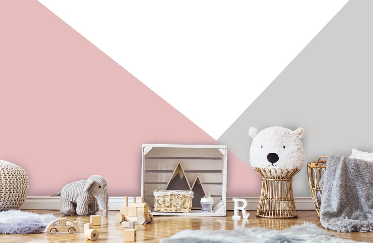 Hip & Trendy Roze en grijze driehoeken 6