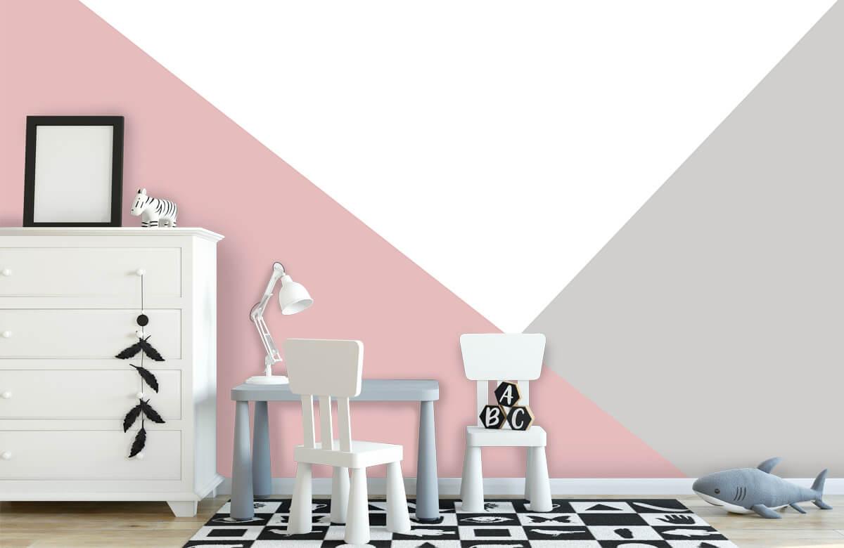 Hip & Trendy Roze en grijze driehoeken 1