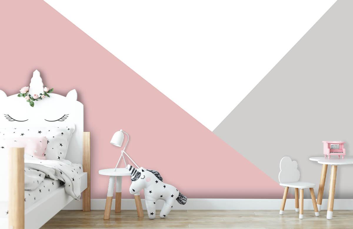 Hip & Trendy Roze en grijze driehoeken 8