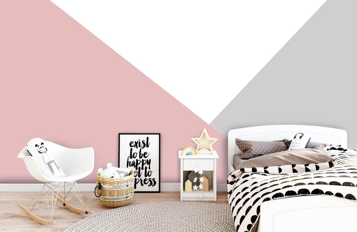 Hip & Trendy Roze en grijze driehoeken 9