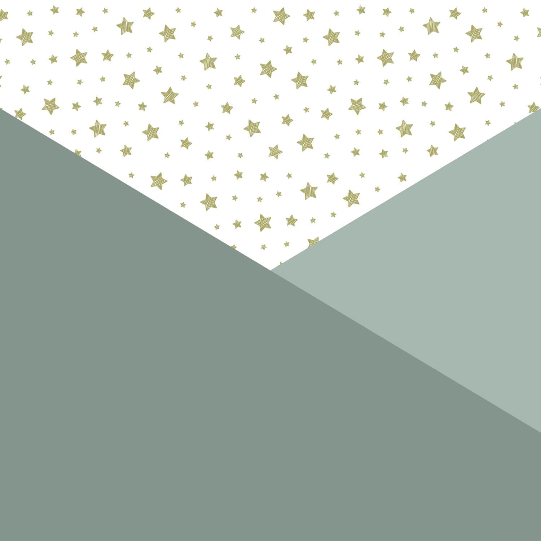 Hip & Trendy Groene driehoeken met sterren 10