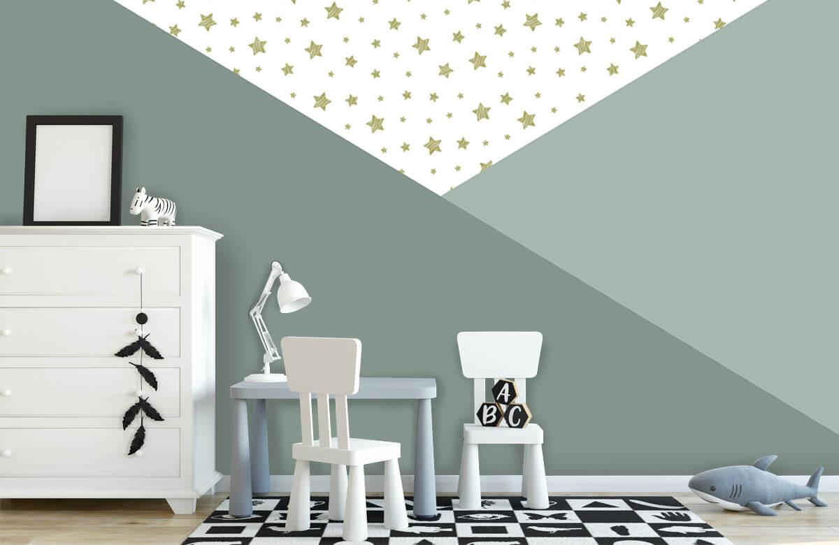 Hip & Trendy Groene driehoeken met sterren 7