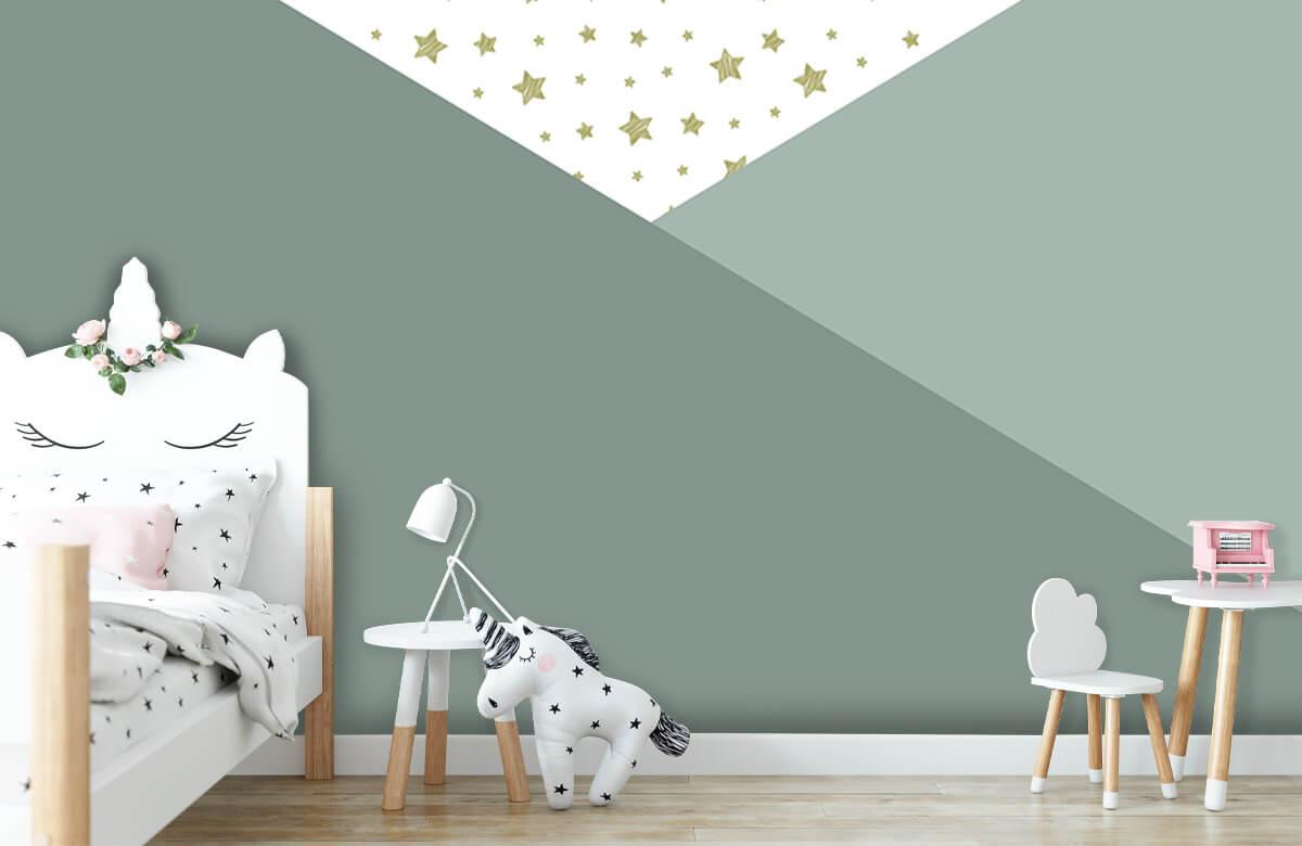 Hip & Trendy Groene driehoeken met sterren 8