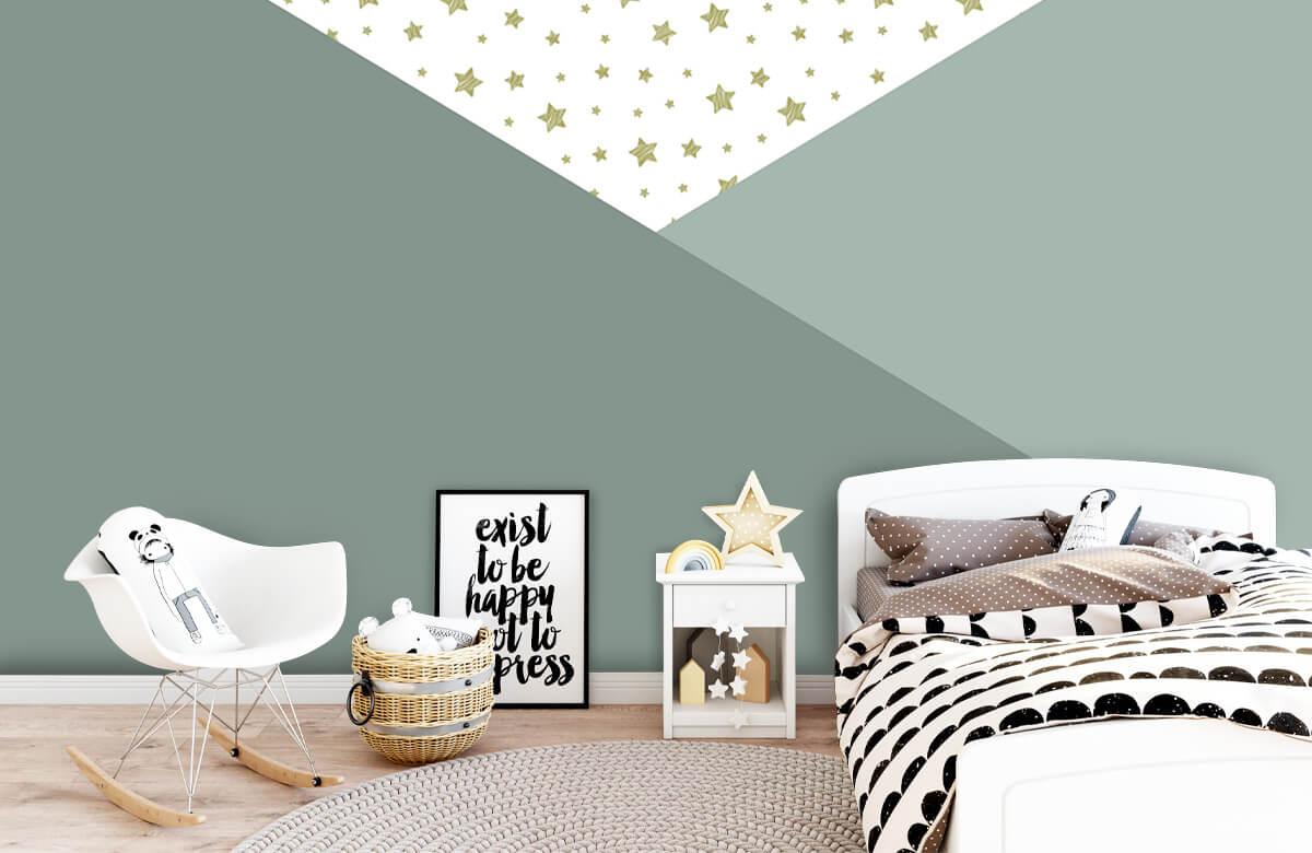 Hip & Trendy Groene driehoeken met sterren 9