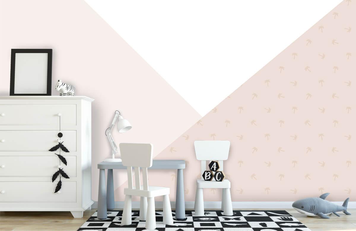 Hip & Trendy Roze driehoeken met palmbomen 7