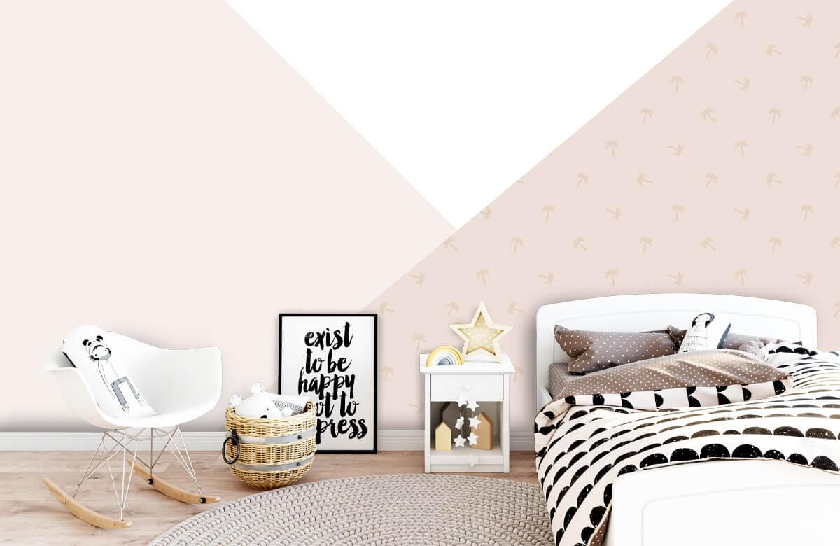 Hip & Trendy Roze driehoeken met palmbomen 9