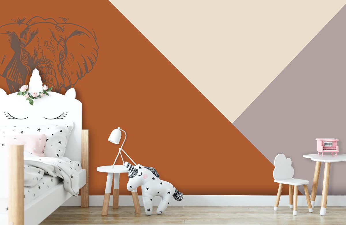 Hip & Trendy Roestkleurige driehoeken met olifant 9