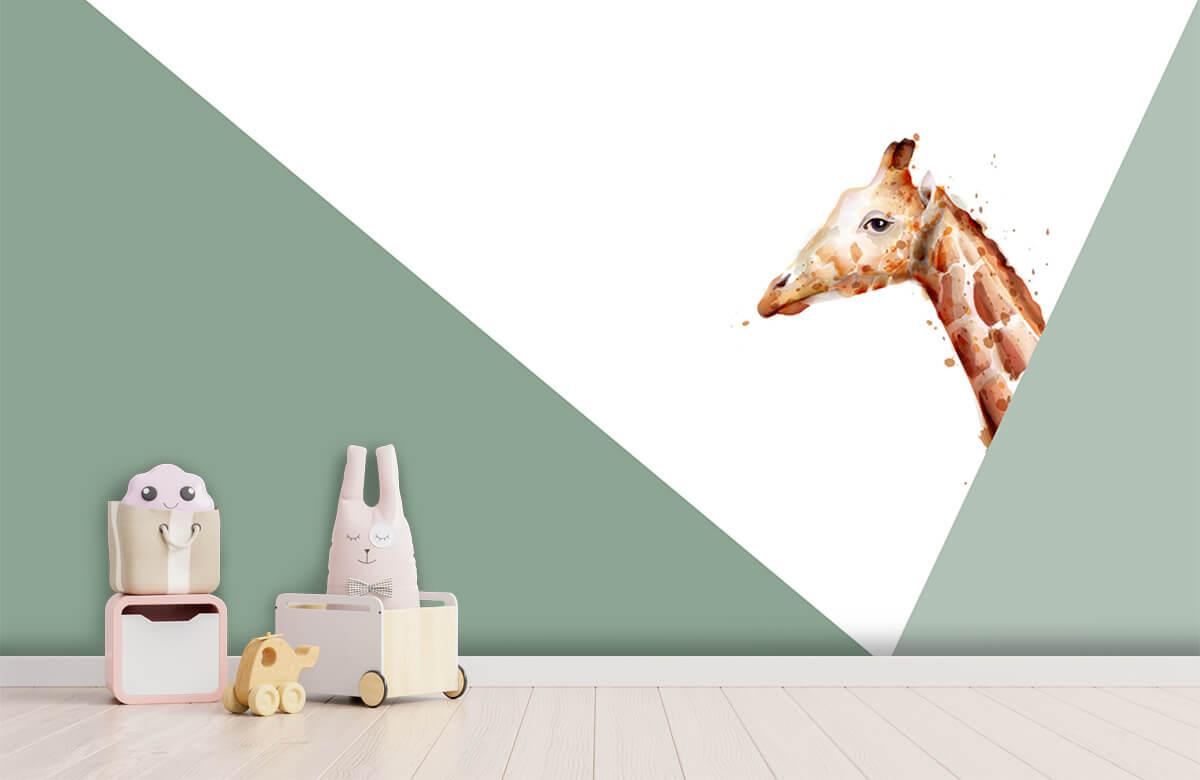 Hip & Trendy Groene driehoeken met giraffe 4