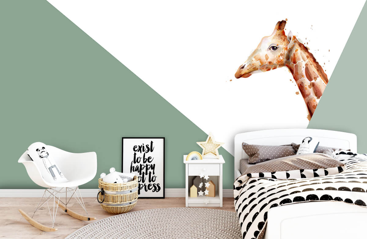 Hip & Trendy Groene driehoeken met giraffe 9
