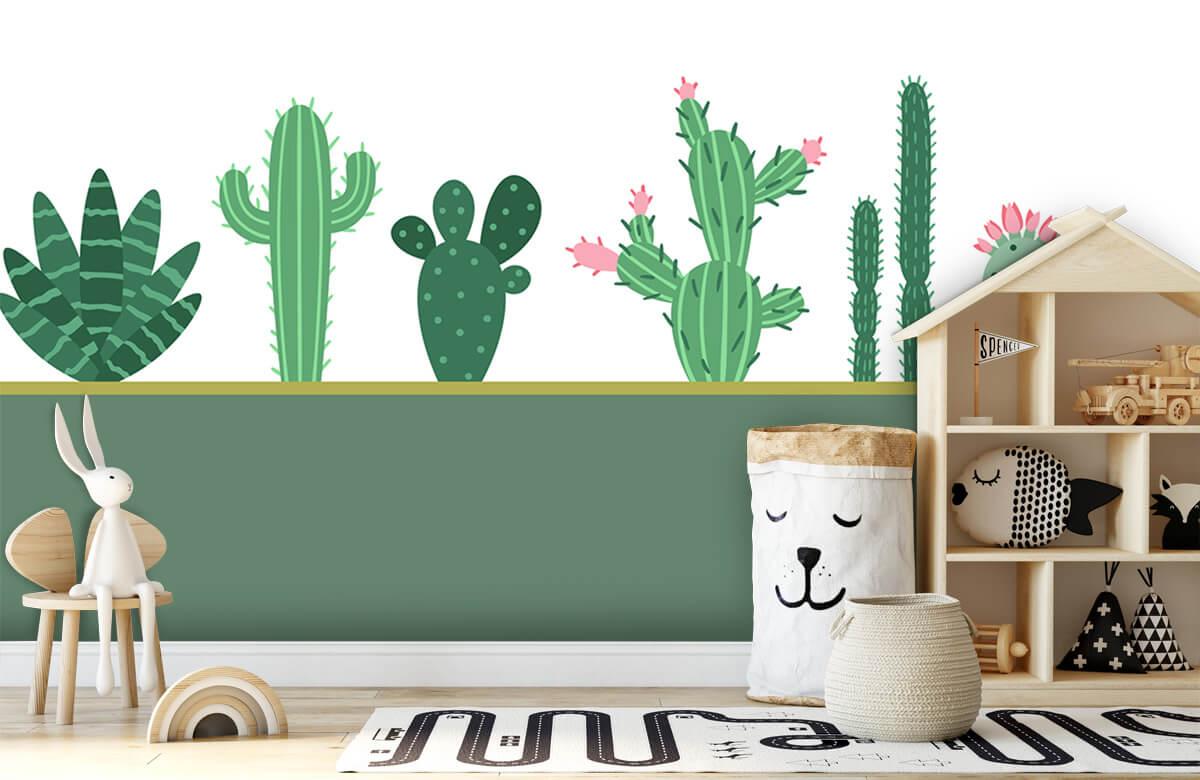 Hip & Trendy Groen vlak met cactussen 4