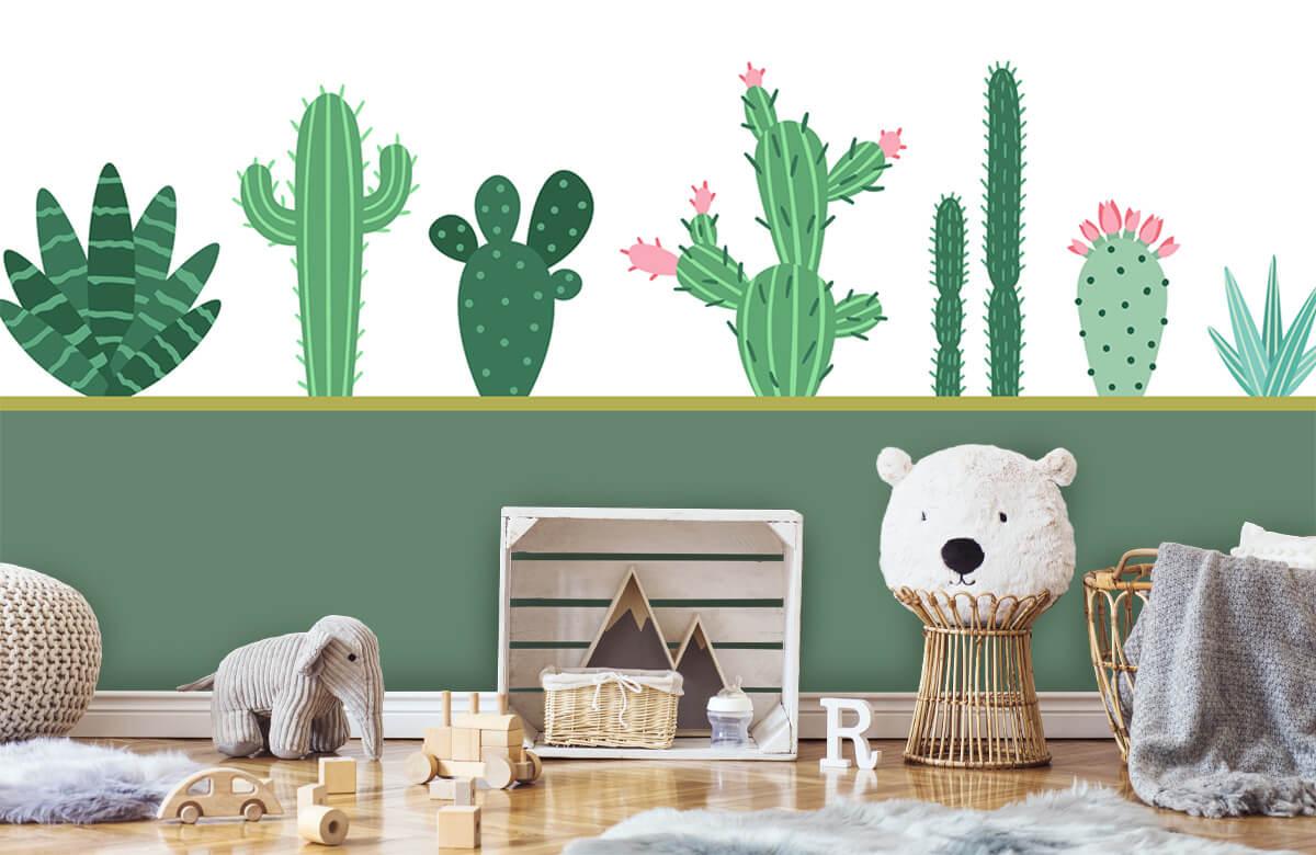 Hip & Trendy Groen vlak met cactussen 5