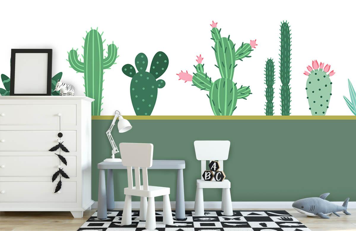 Hip & Trendy Groen vlak met cactussen 7