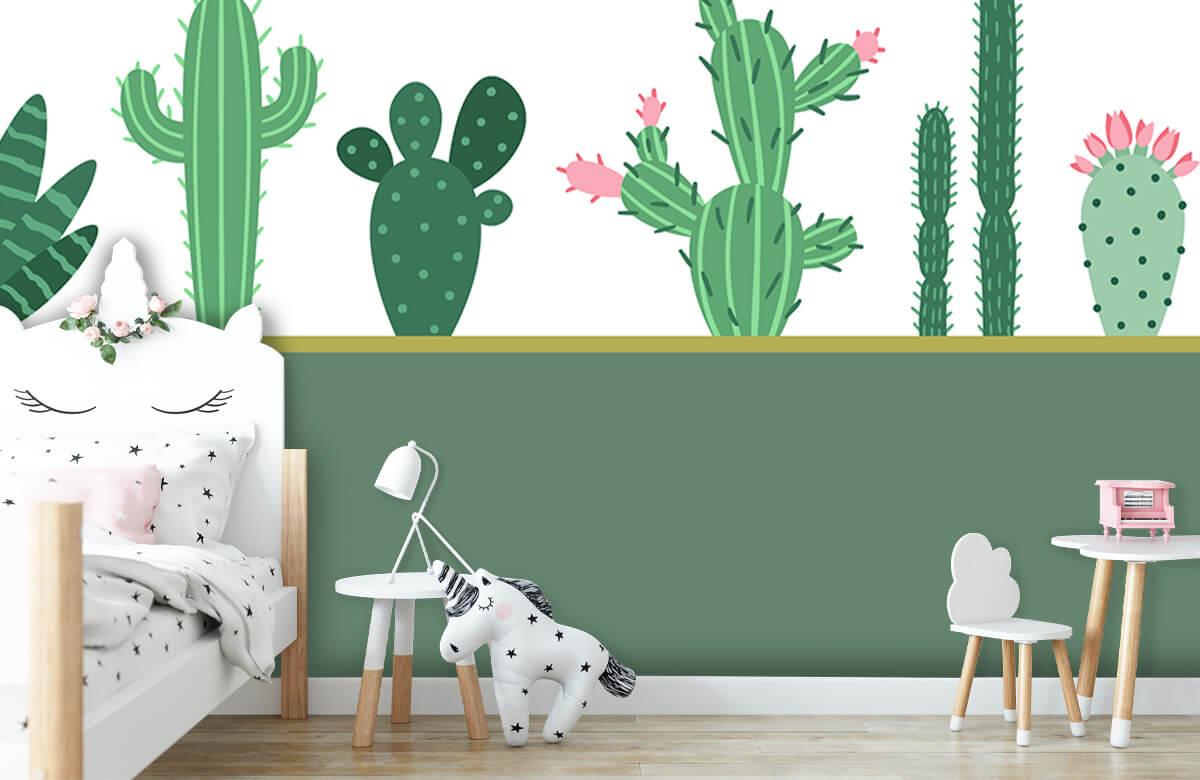 Hip & Trendy Groen vlak met cactussen 8