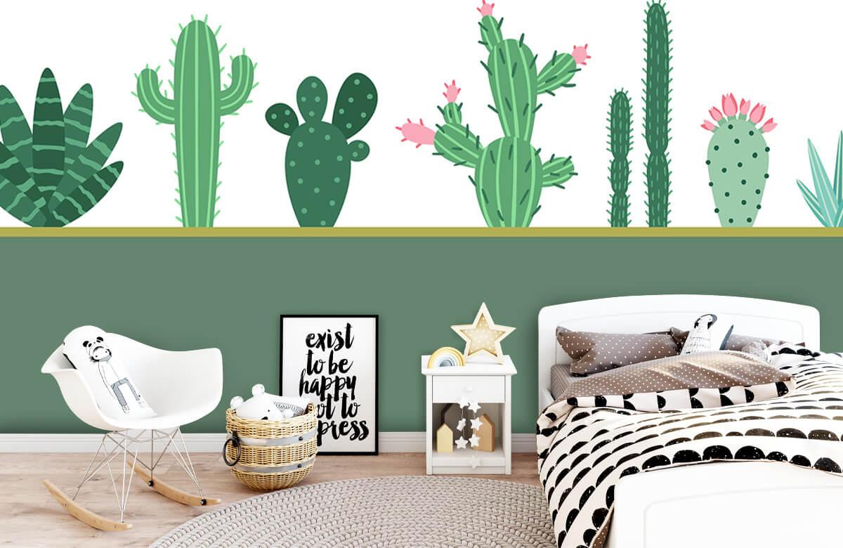 Hip & Trendy Groen vlak met cactussen 9