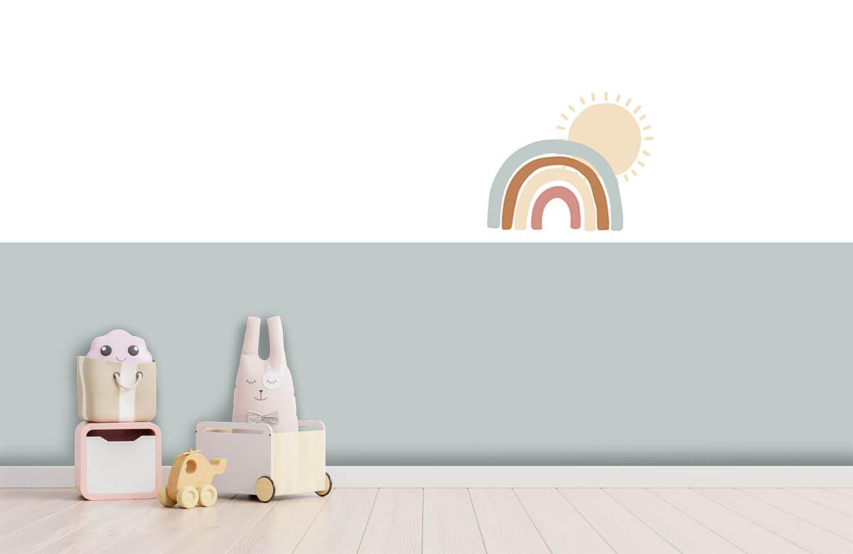 Hip & Trendy Regenboog met zon 3