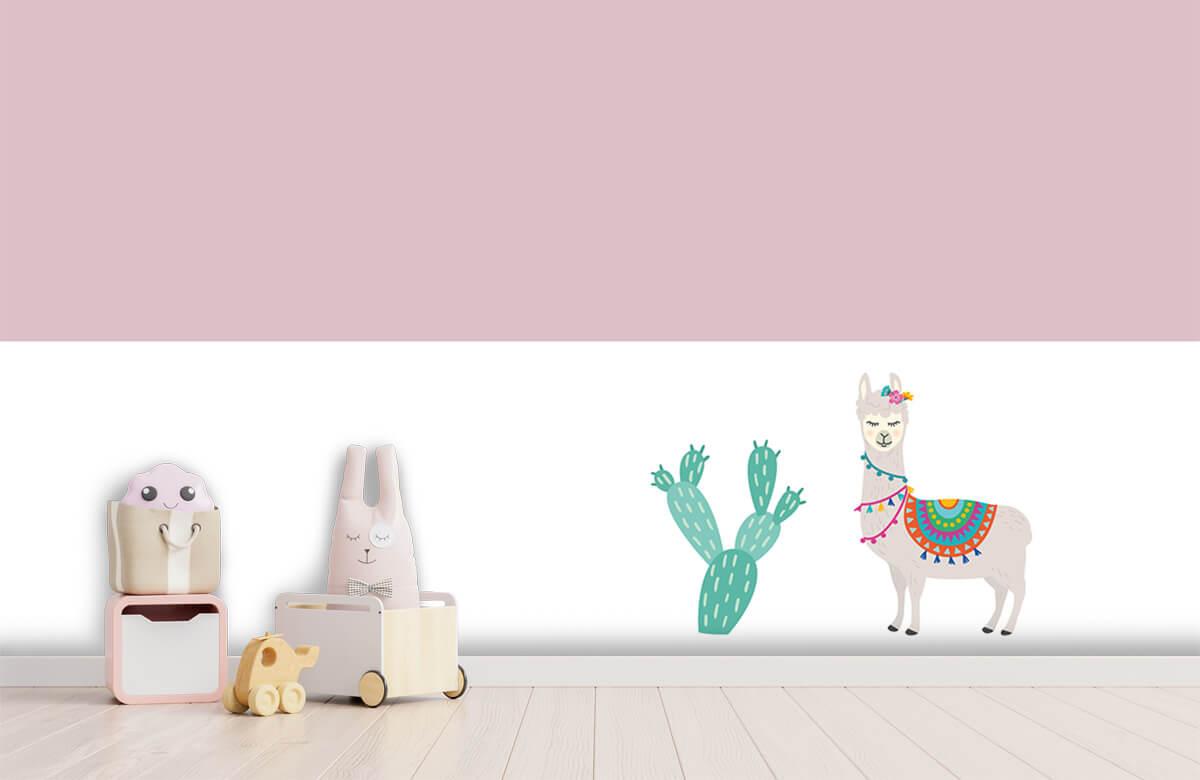 Hip & Trendy Vrolijke lama met cactus 1