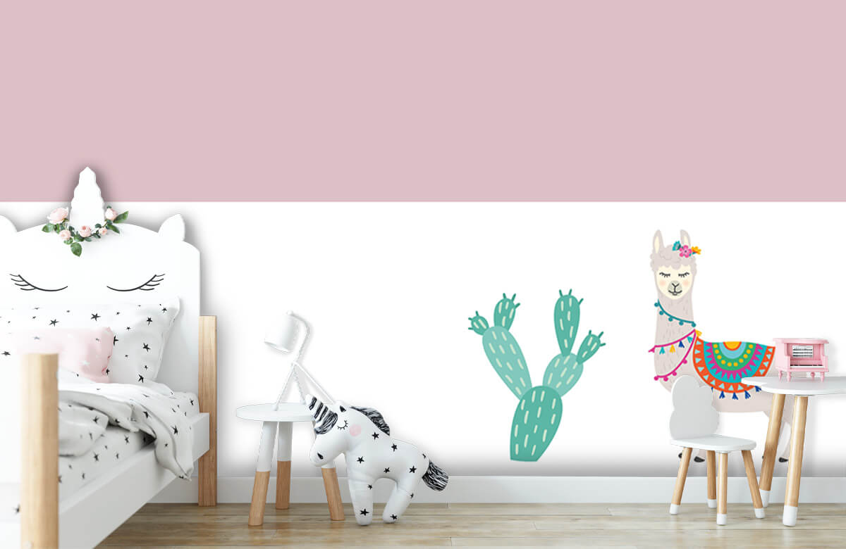 Hip & Trendy Vrolijke lama met cactus 2
