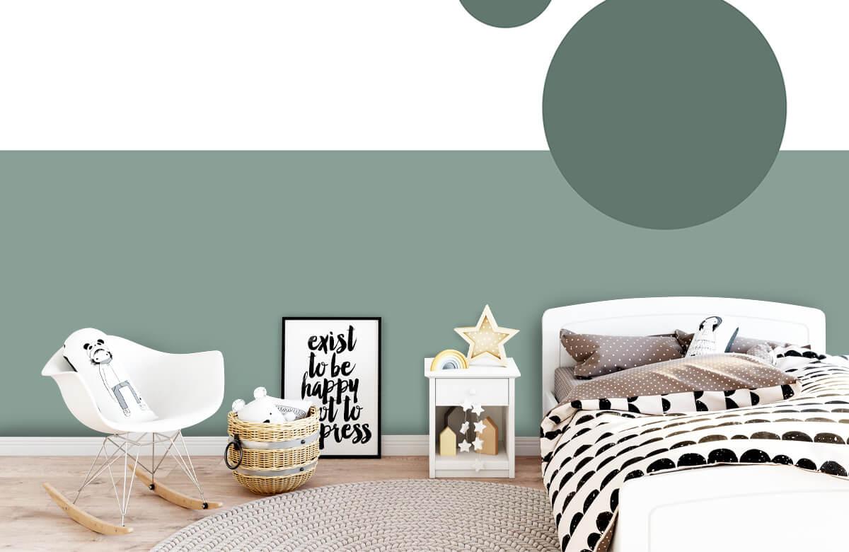 Hip & Trendy Vlakken en cirkels, groen 9