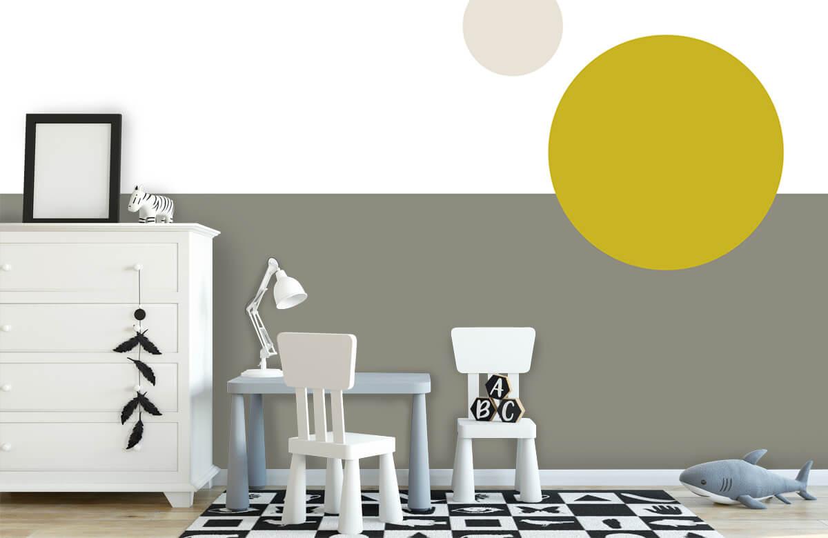 Hip & Trendy Vlakken en cirkels, geel 7