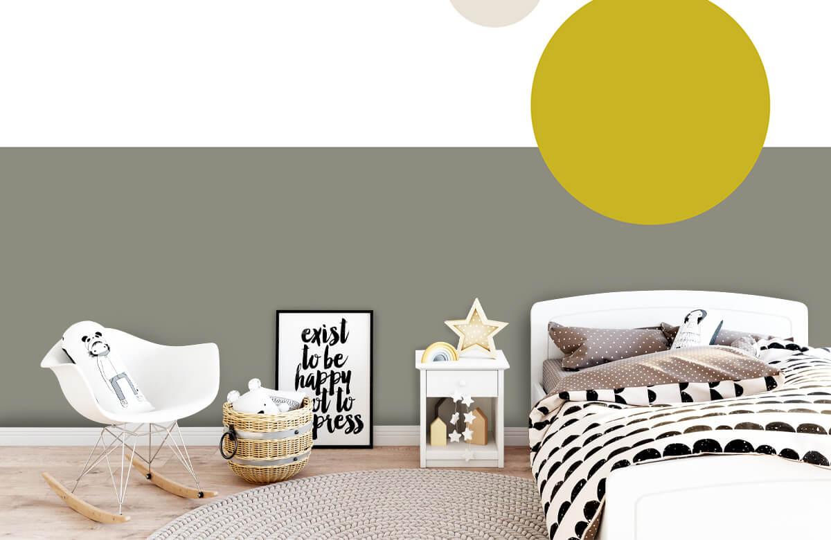 Hip & Trendy Vlakken en cirkels, geel 9