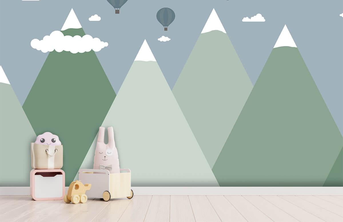 Hip & Trendy Berglandschap met luchtballonnen 1