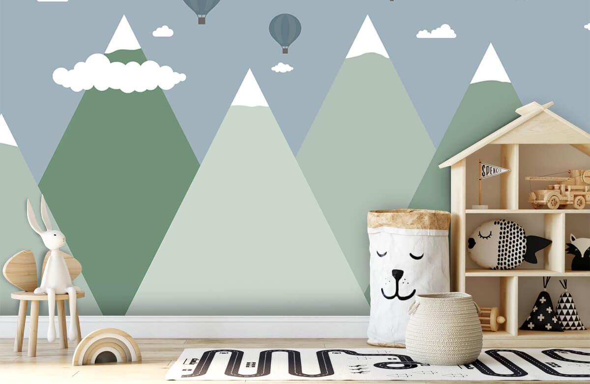 Hip & Trendy Berglandschap met luchtballonnen 4