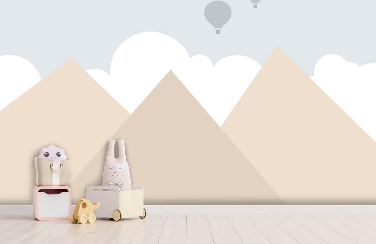 Hip & Trendy Hoge bergen met luchtballonnen 4