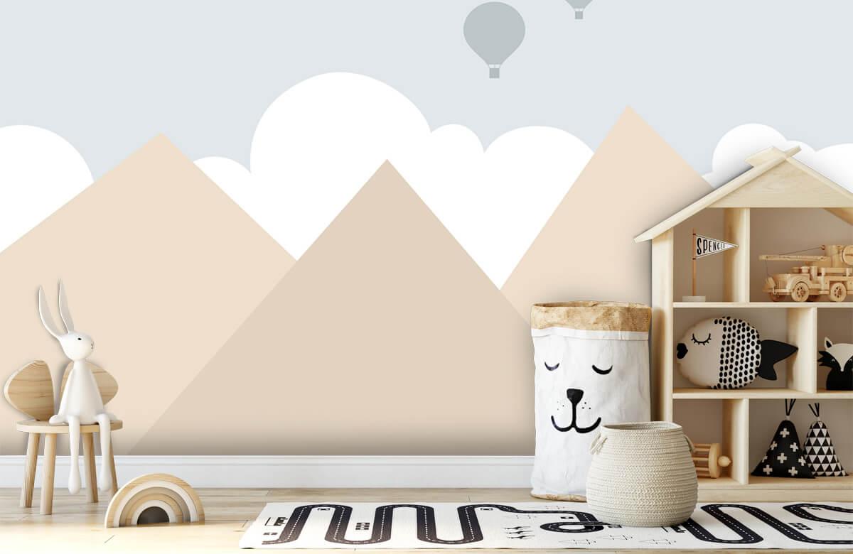 Hip & Trendy Hoge bergen met luchtballonnen 1