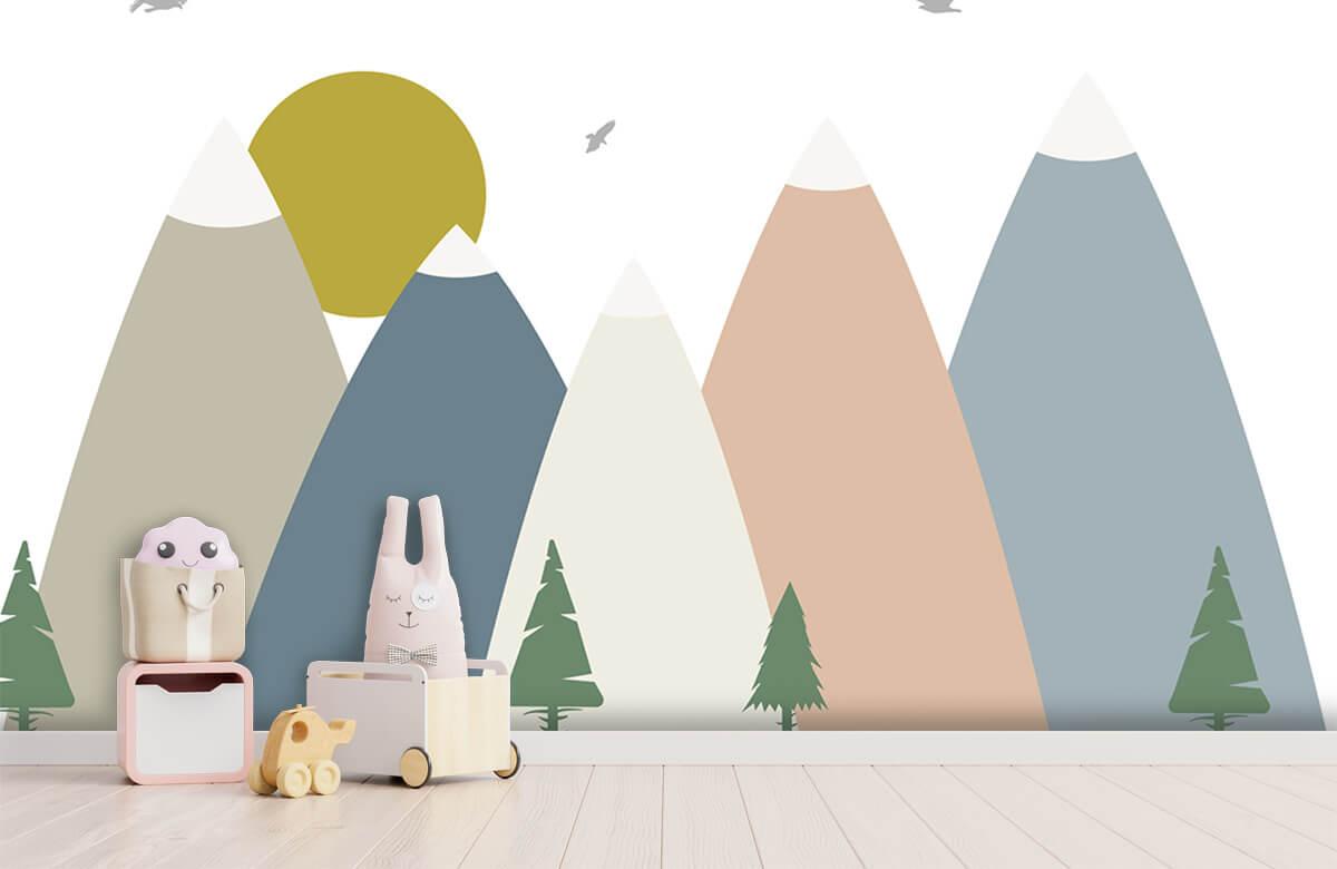 Hip & Trendy hoge bergen, gekleurd 2