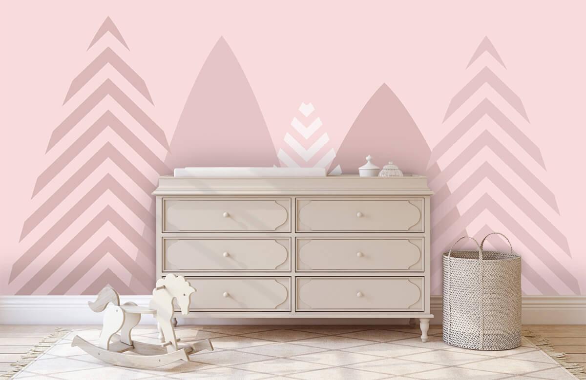 Hip & Trendy Hoge bergen, roze 2