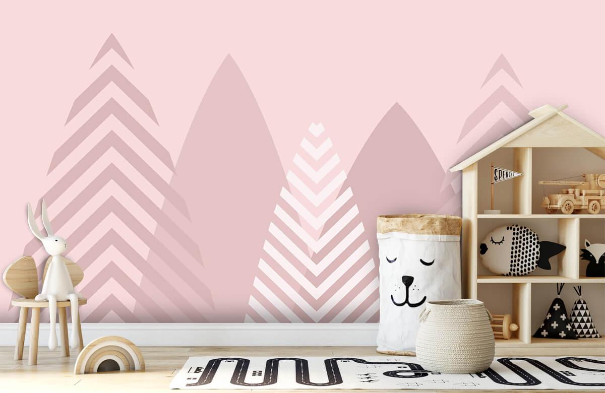 Hip & Trendy Hoge bergen, roze 5