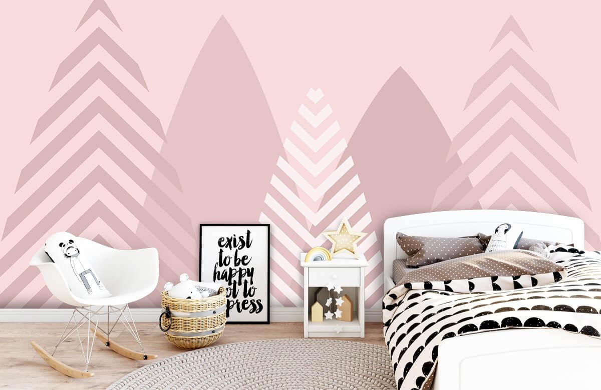 Hip & Trendy Hoge bergen, roze 1