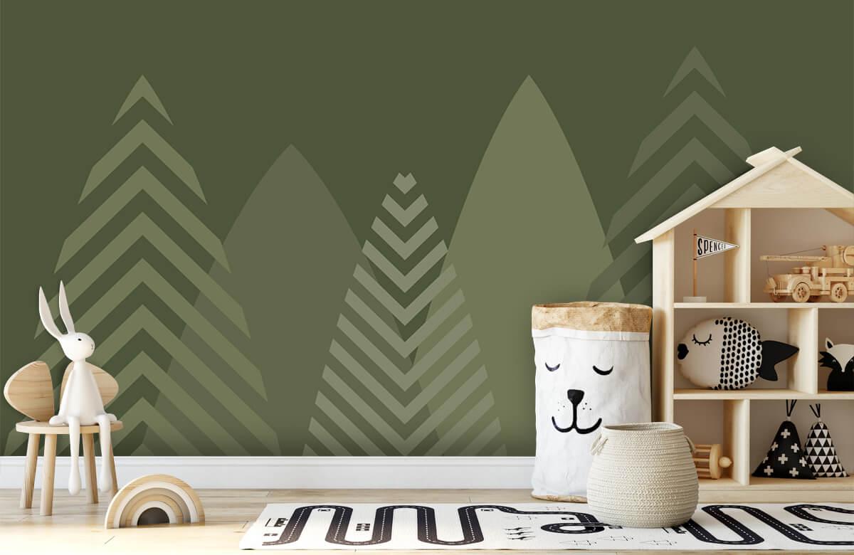 Hip & Trendy Hoge bergen, groen 5