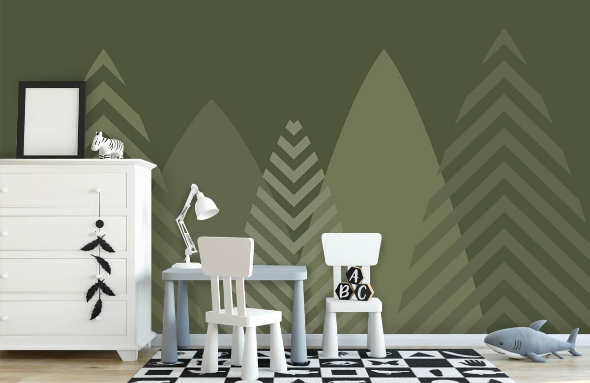 Hip & Trendy Hoge bergen, groen 1