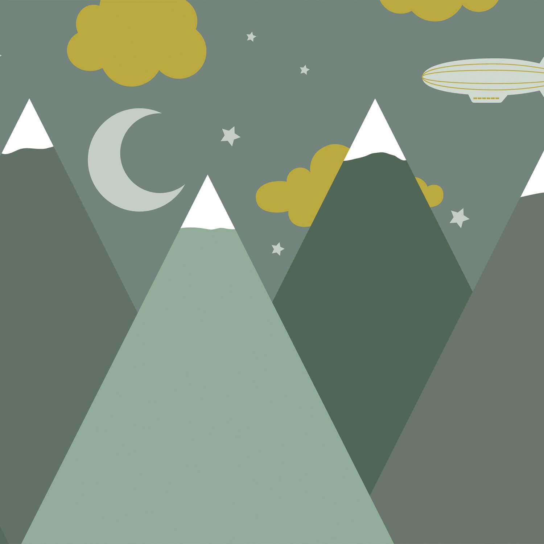Hip & Trendy Groene bergen in de nacht 10