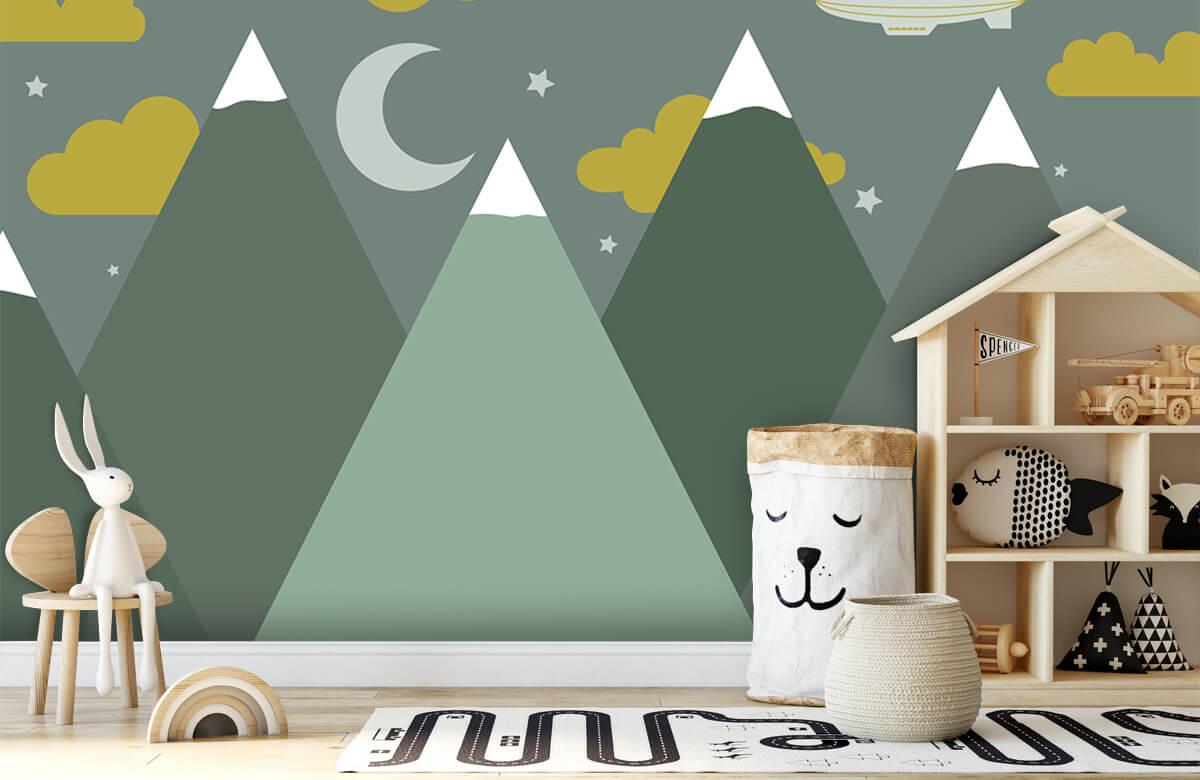 Hip & Trendy Groene bergen in de nacht 5