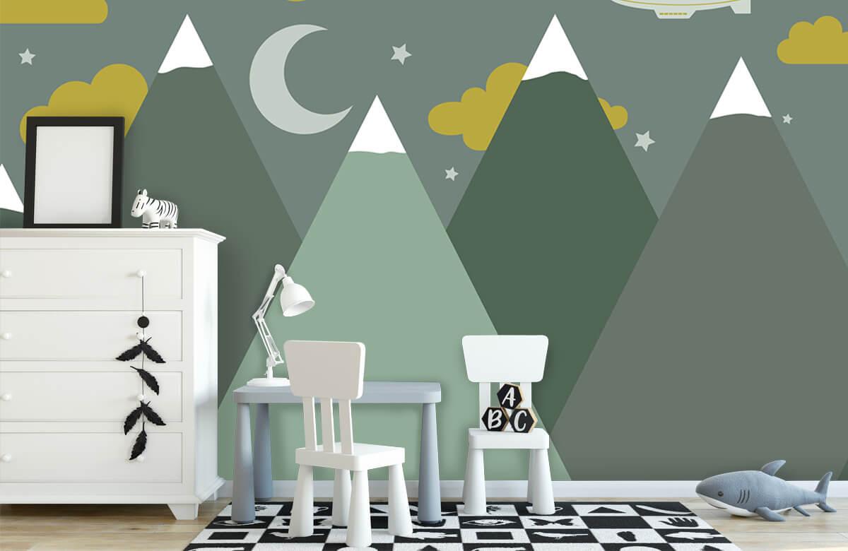 Hip & Trendy Groene bergen in de nacht 8