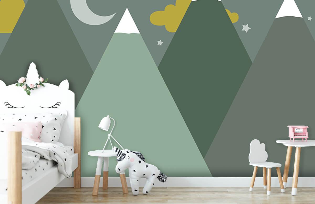 Hip & Trendy Groene bergen in de nacht 9