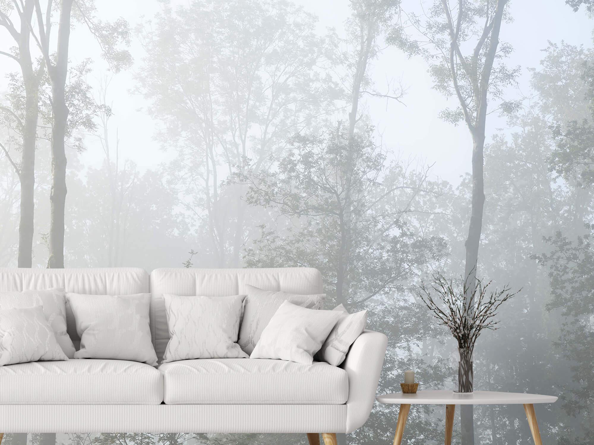 Bos behang Dichte mist in het bos 4