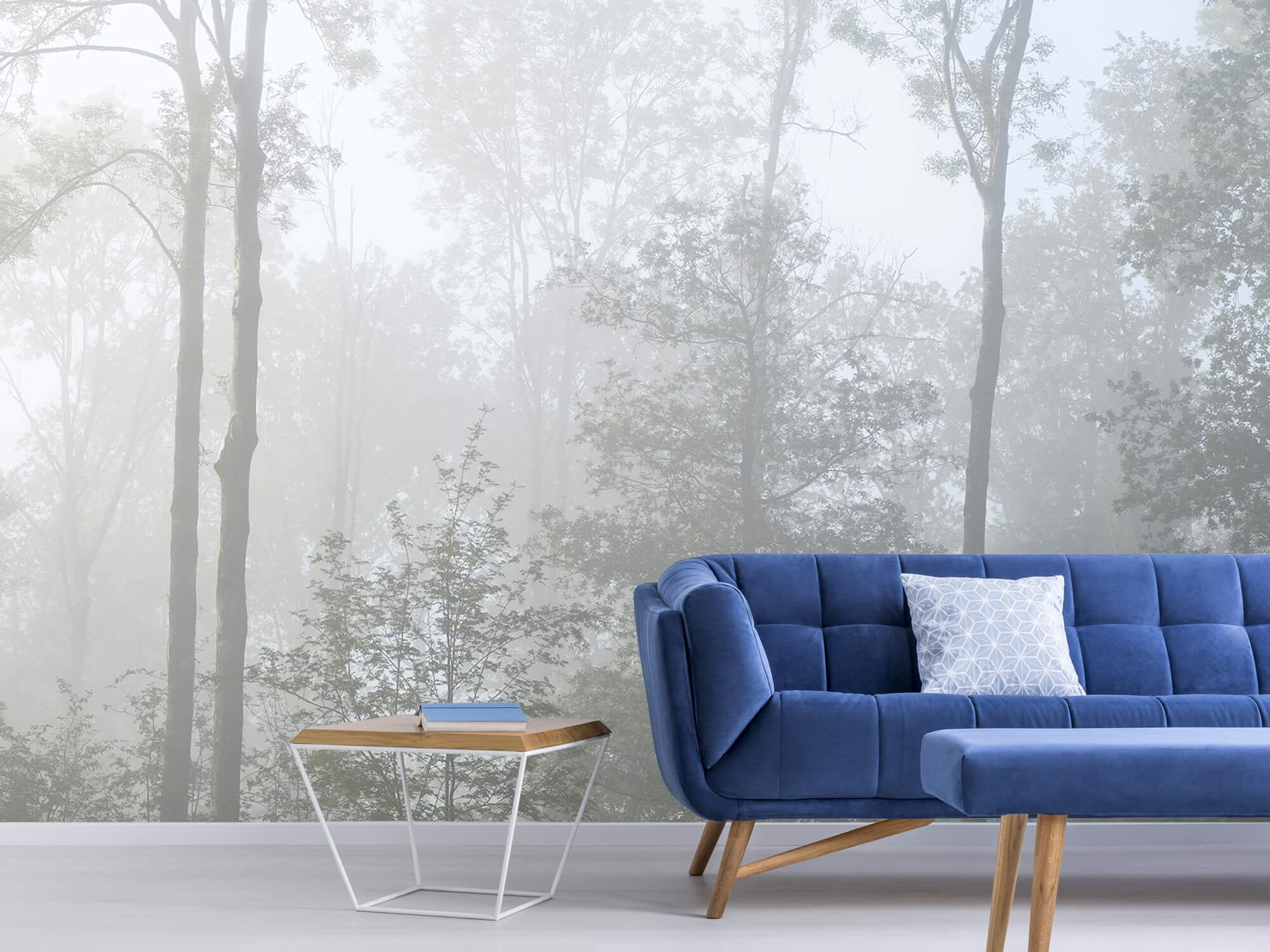 Bos behang Dichte mist in het bos 6
