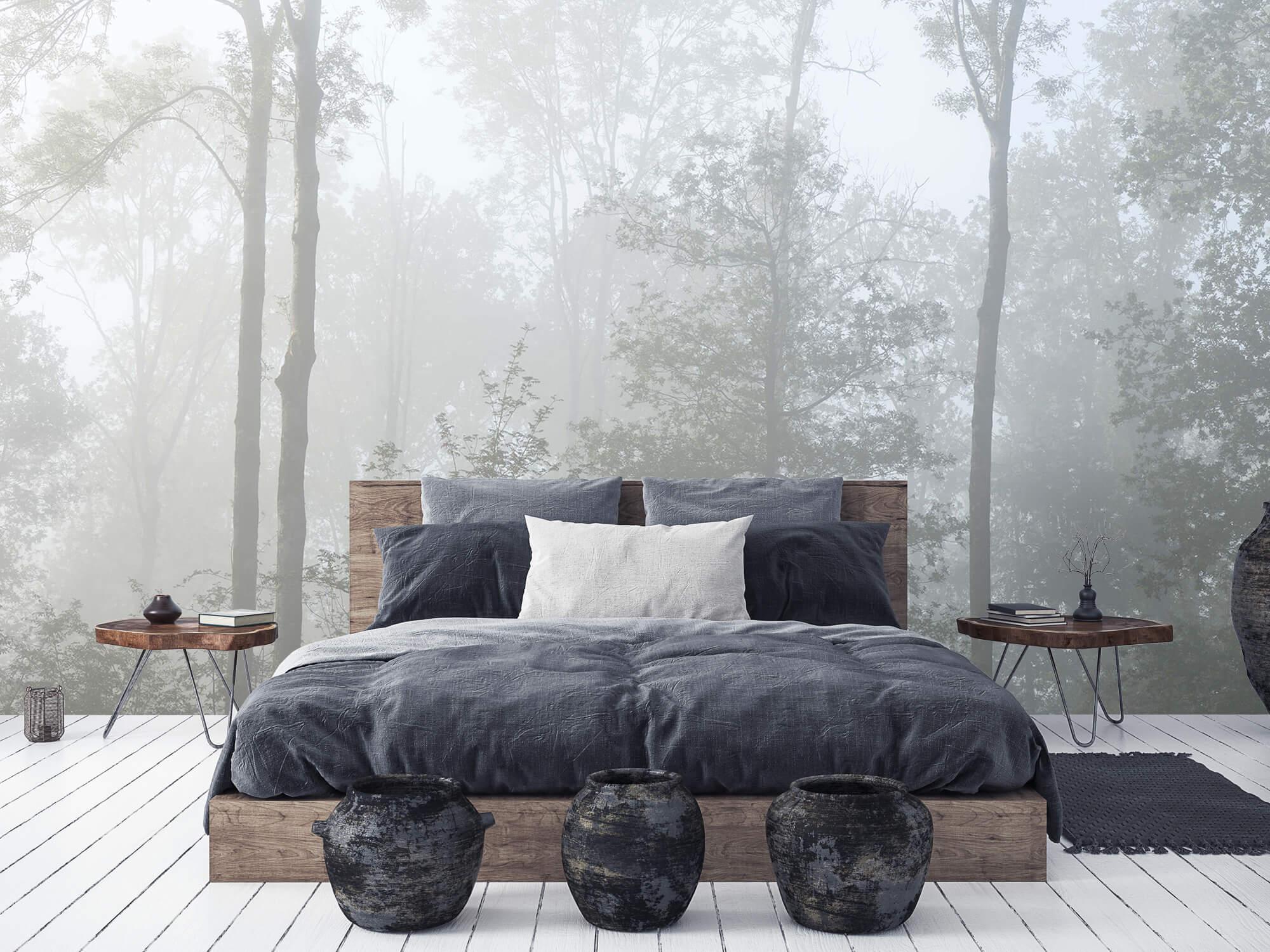 Bos behang Dichte mist in het bos 7