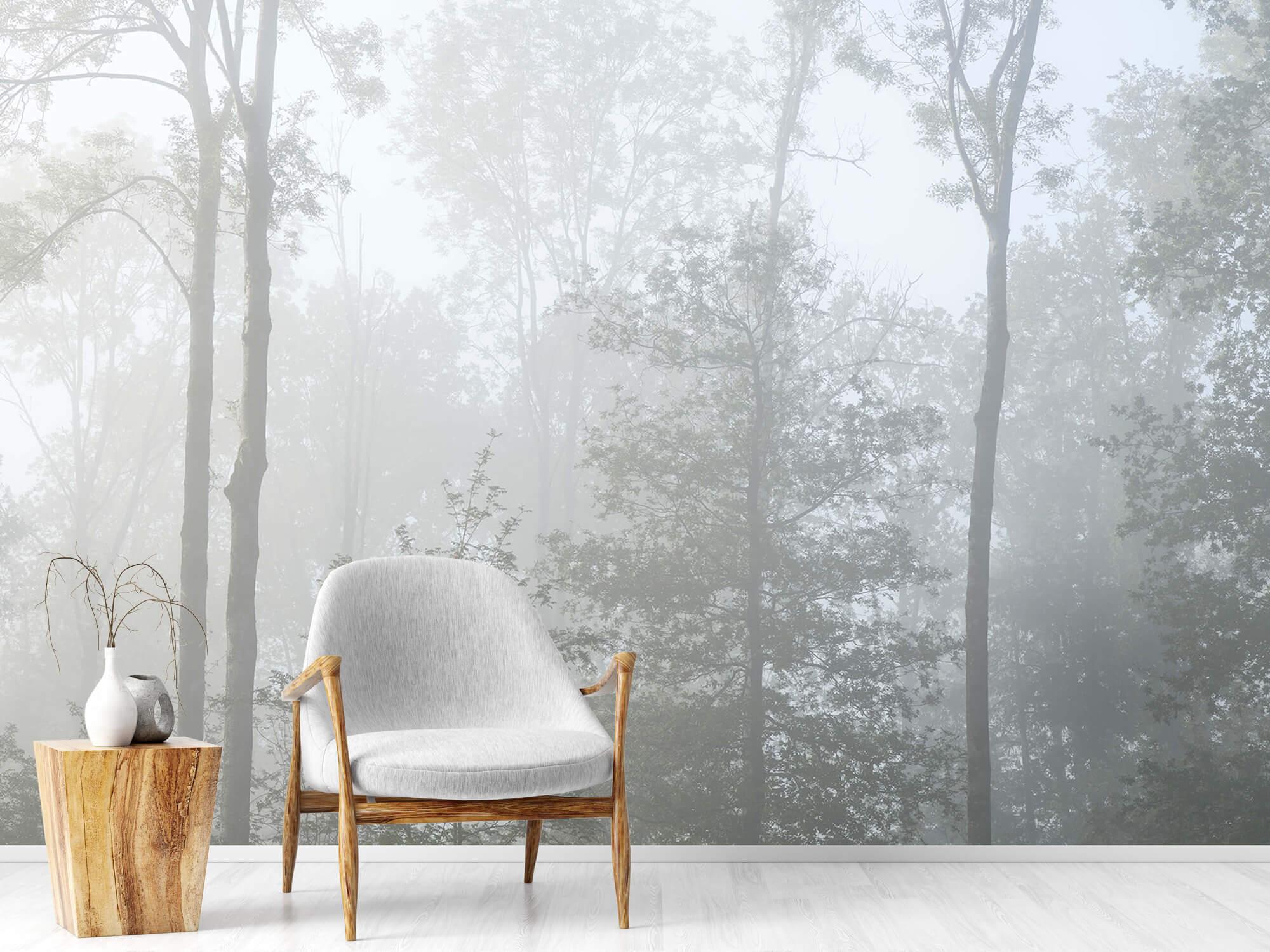 Bos behang Dichte mist in het bos 18