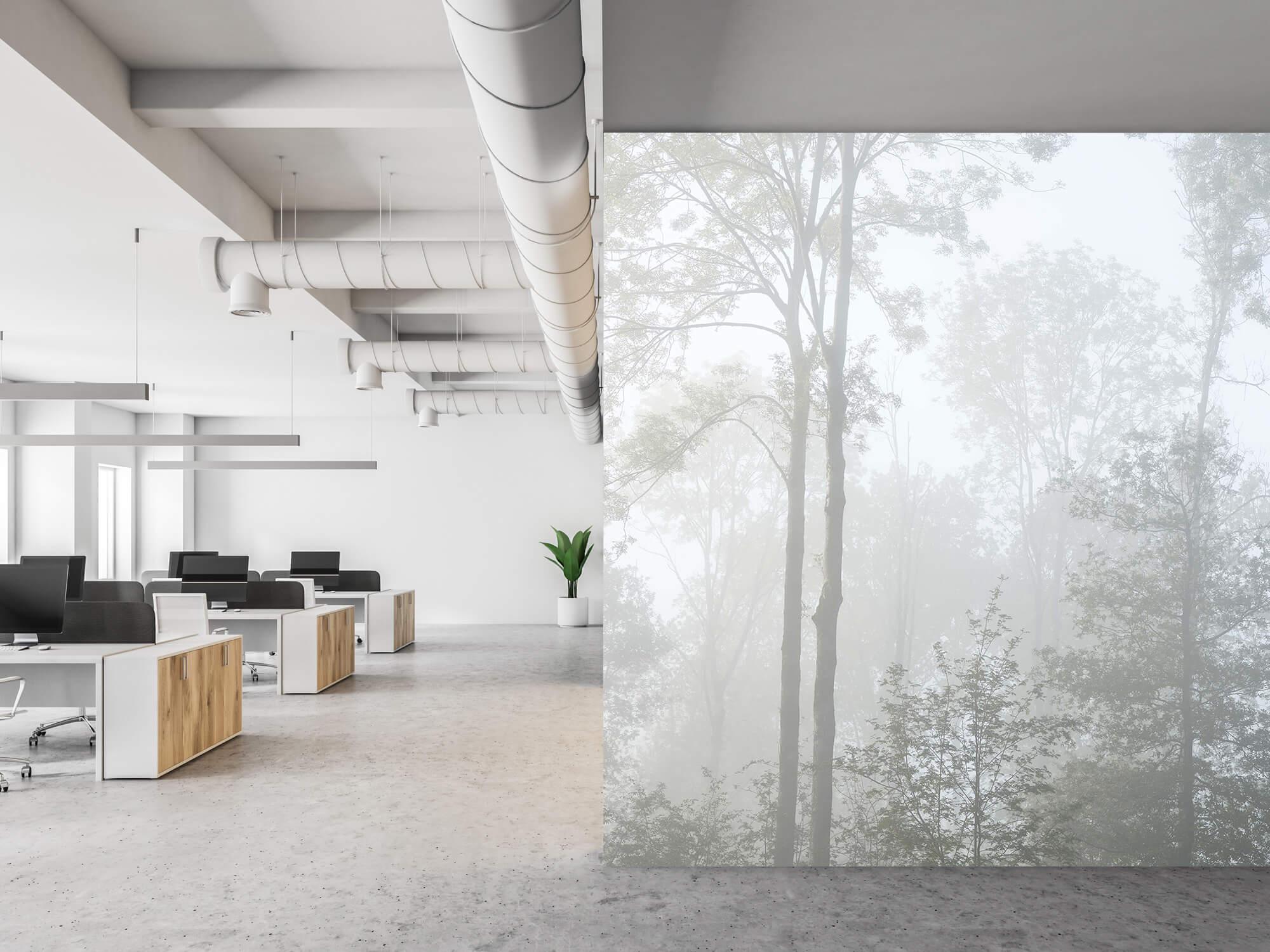 Bos behang Dichte mist in het bos 21