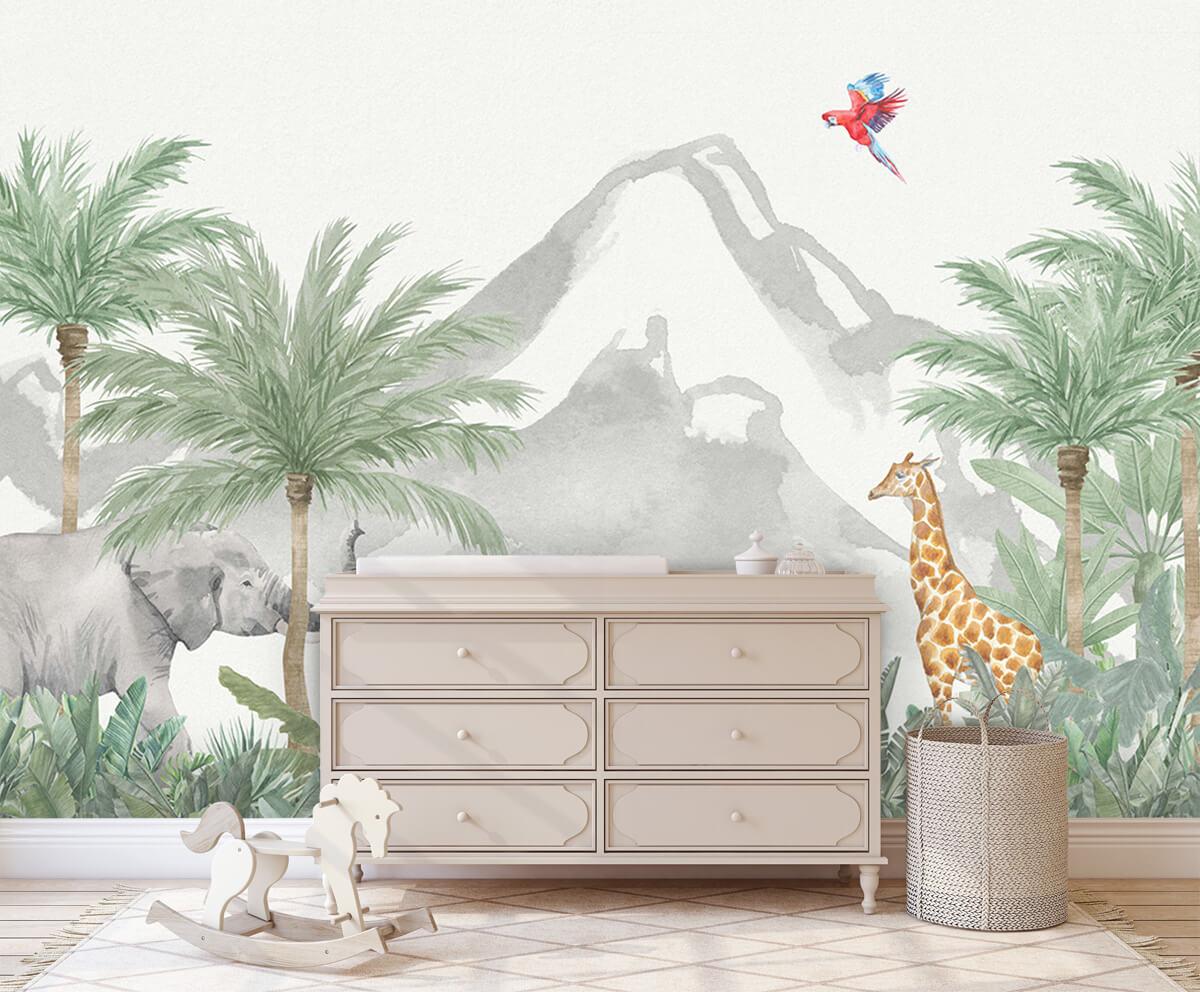 Jungle behang Dieren in een jungle 1