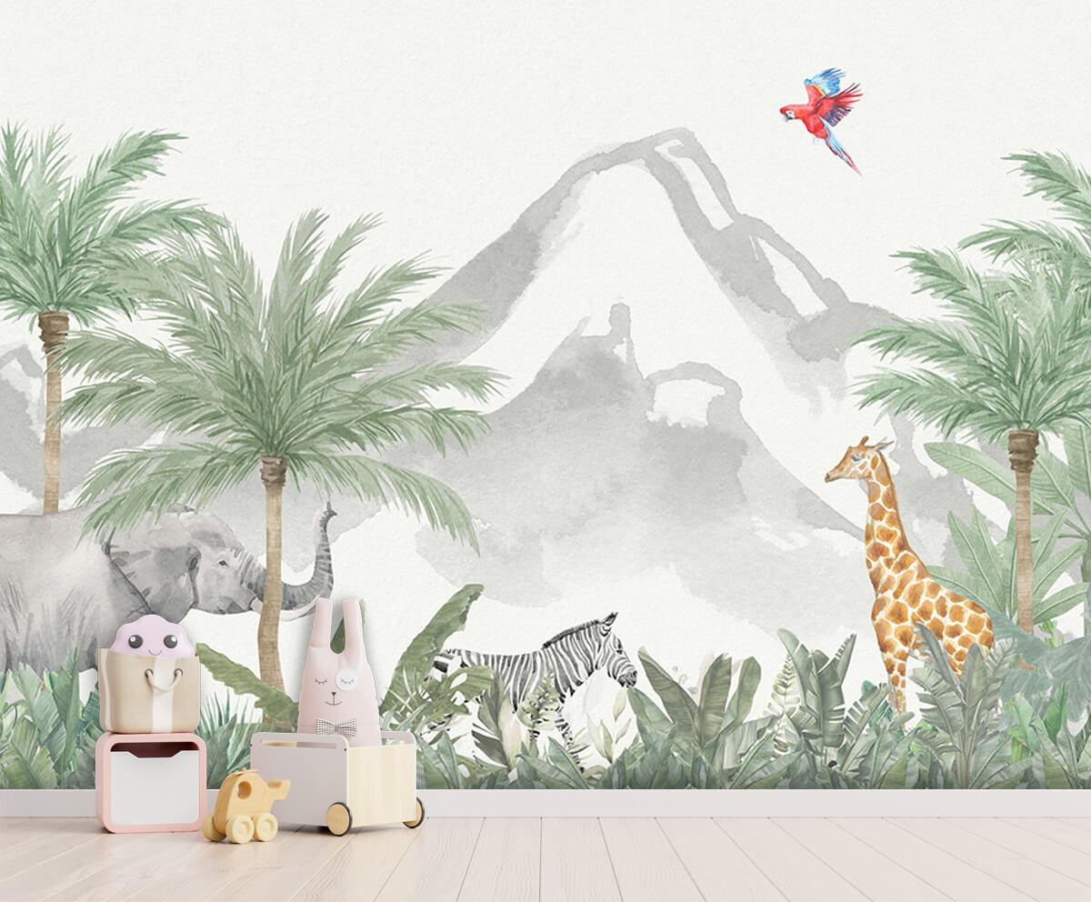 Jungle behang Dieren in een jungle 3
