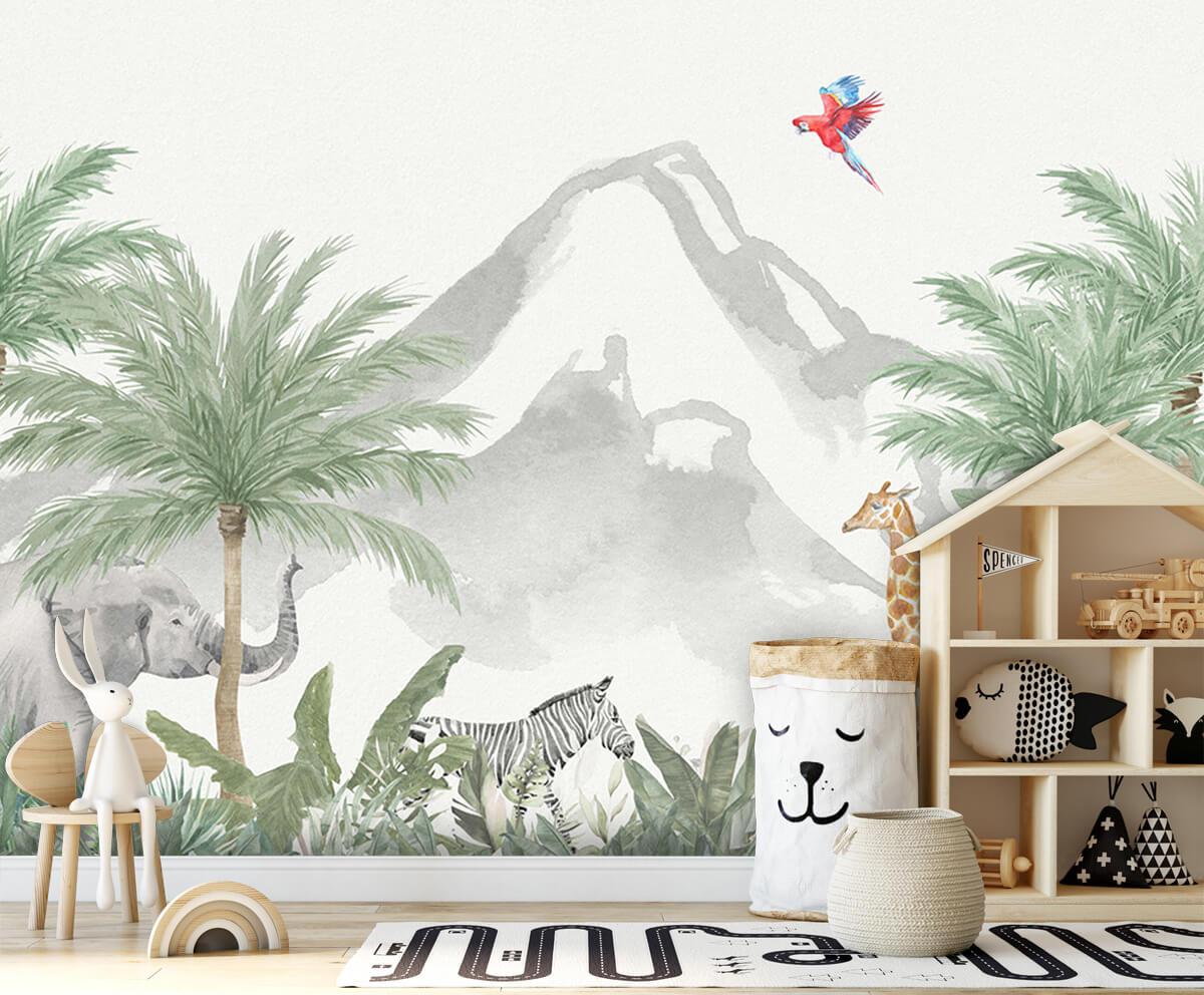 Jungle behang Dieren in een jungle 4