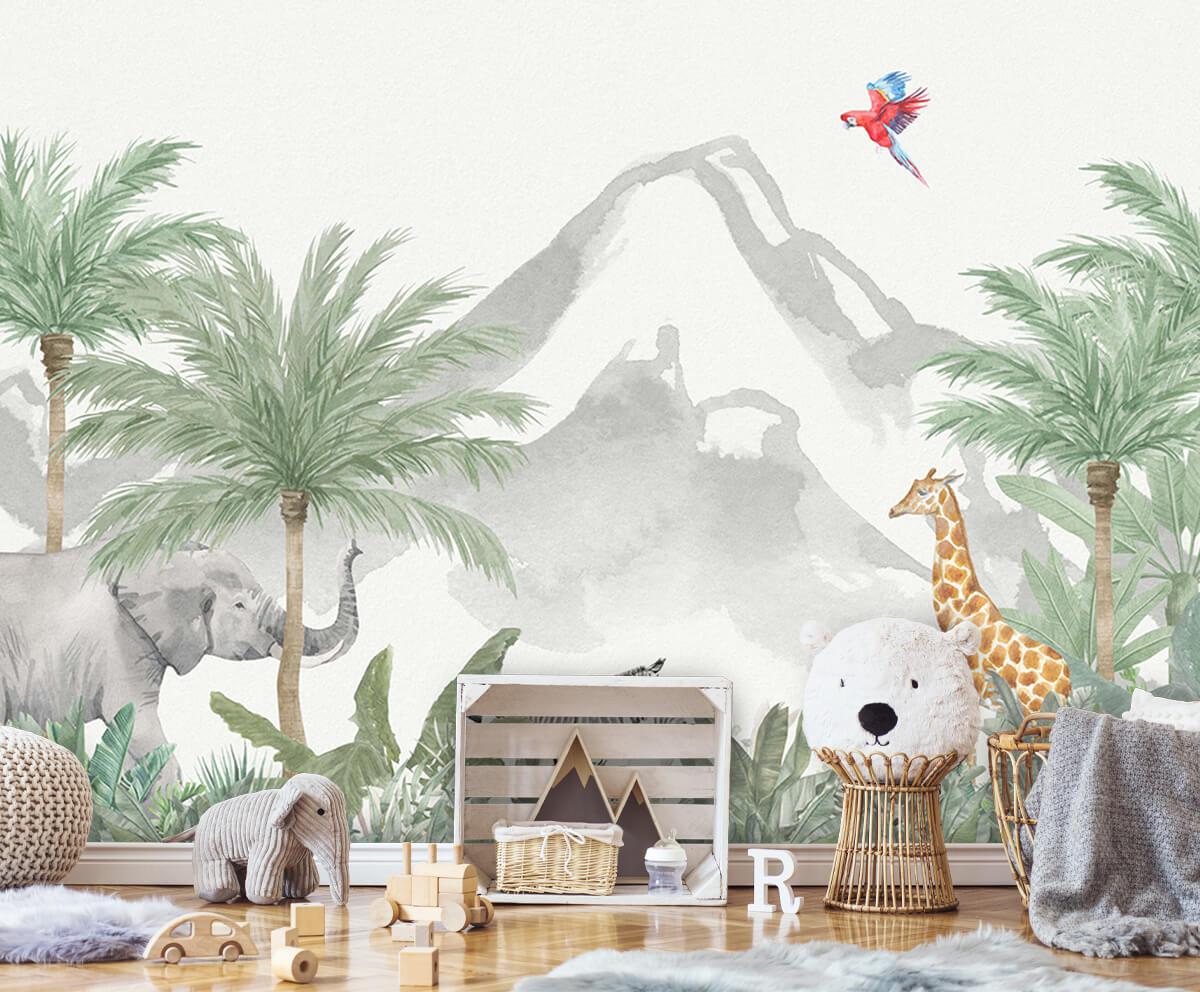 Jungle behang Dieren in een jungle 5