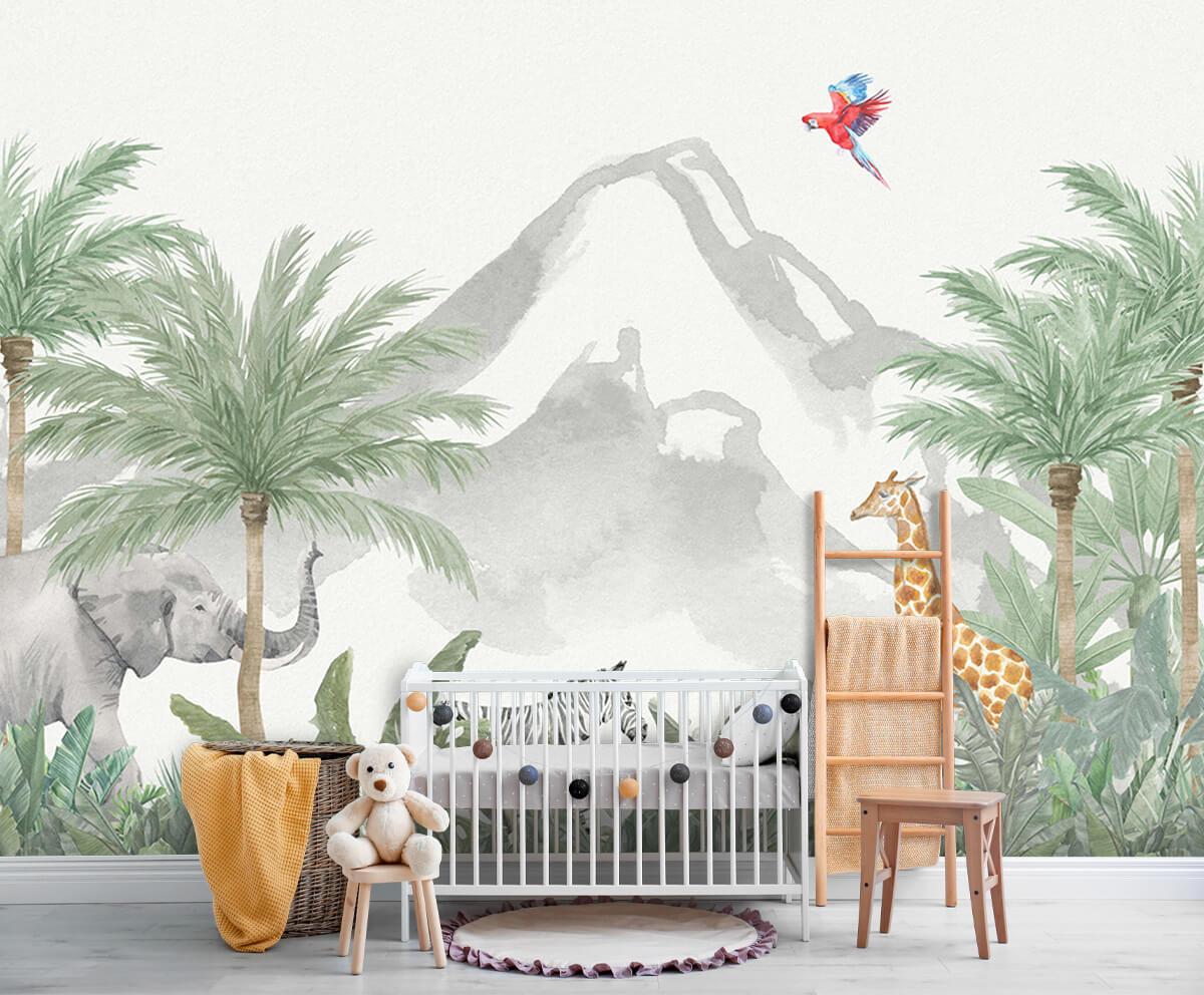 Jungle behang Dieren in een jungle 6