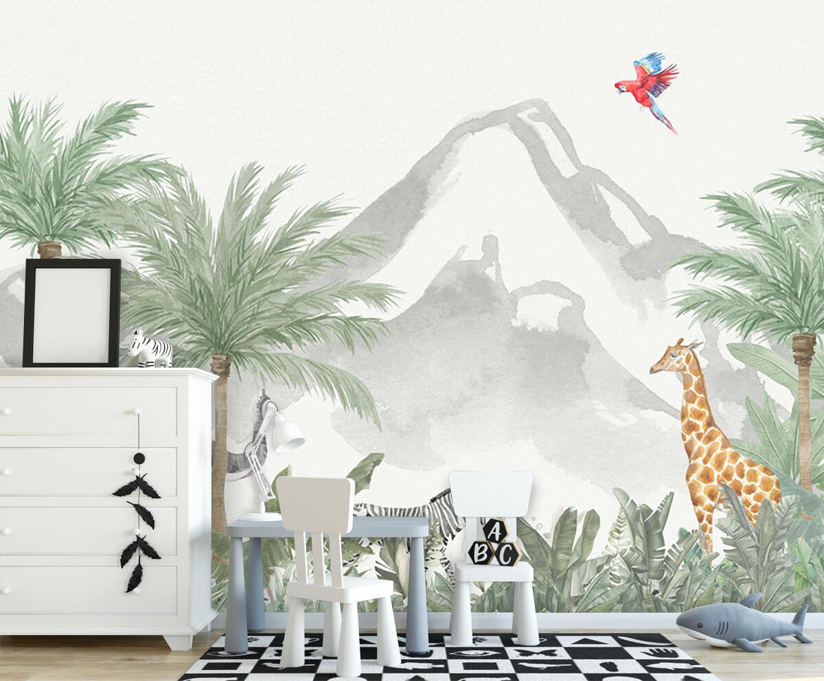 Jungle behang Dieren in een jungle 7
